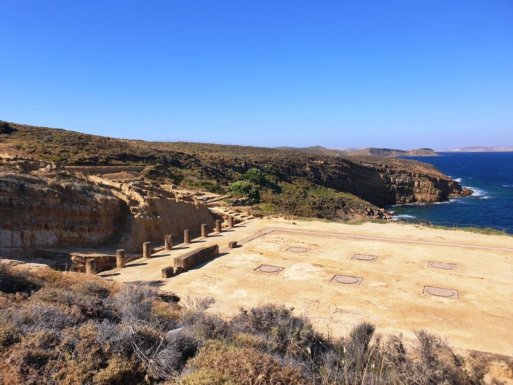 site of Kavirio  in Lemnos - Greek islands for history