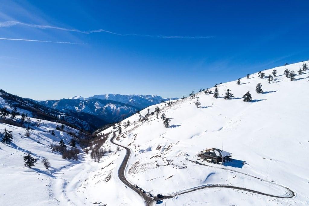 Vasilitsa ski resort in Greece
