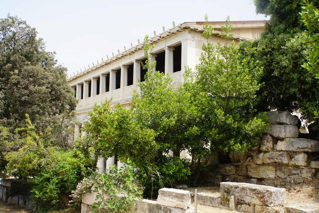 Attalos Stoa in Ancient Agora in Athens - 5 day Greece itinerary