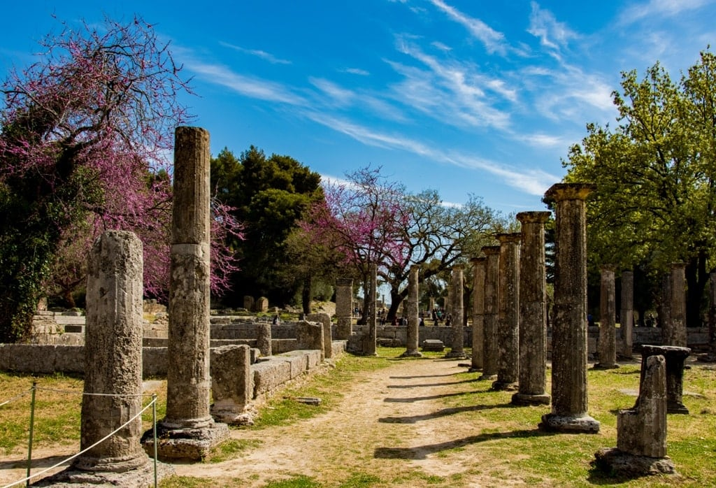 Ancient Olympia - Greece is famous for the Olympic Games
