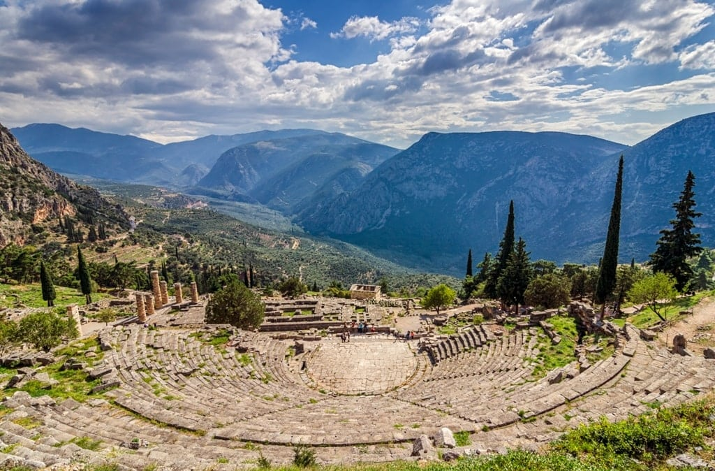 Ancient Theater of Delphi in Greece