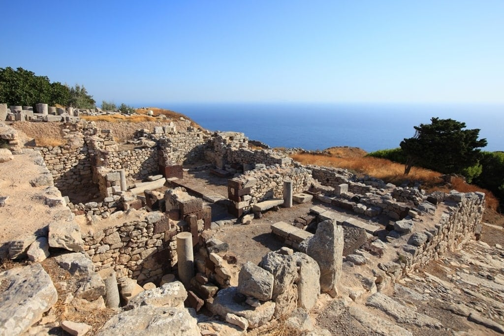 Ancient Thera in Santorini - best islands for history