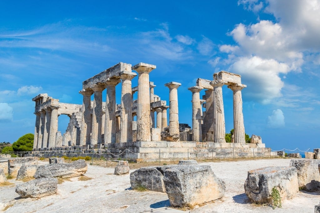 Aphaia temple on Aegina - Saronic Islands Greece