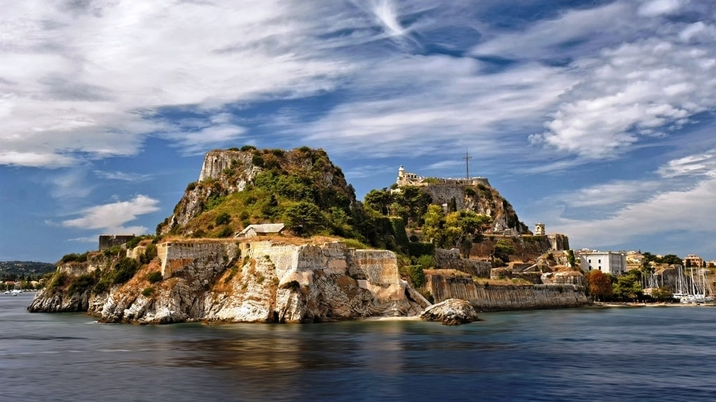 Corfu in the Ionian Island Group of Greek Islands