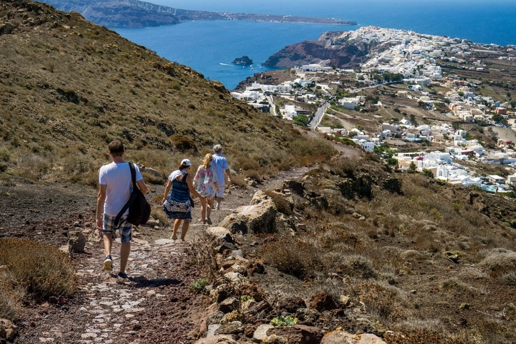 Hiking from Fira to Oia in Santorini - Best Greek island to hike