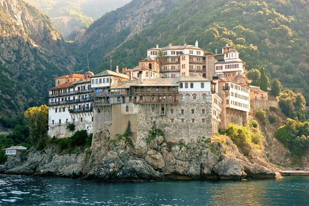 Gregoriat monastery in Holy Mount Athos