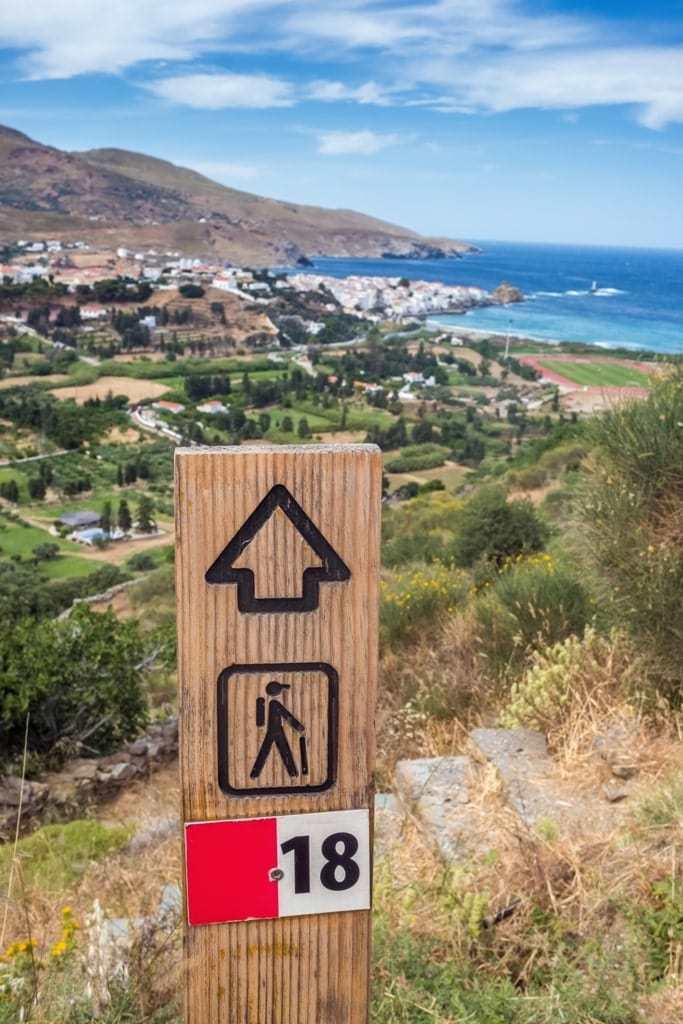 Hiking in Andros Greece - Best Greek sialnds for hiking