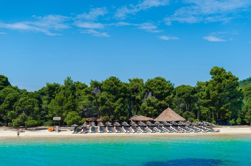 Koukounaries beach, Skiathos / Greek islands with airports