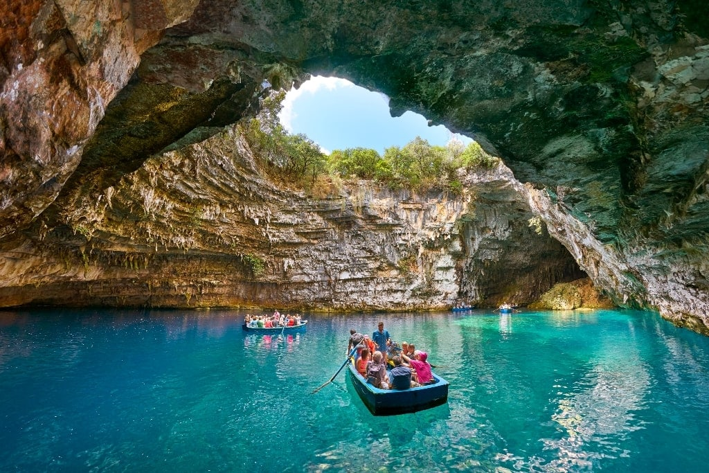 Melissani Cave - Blue Caves of Greece