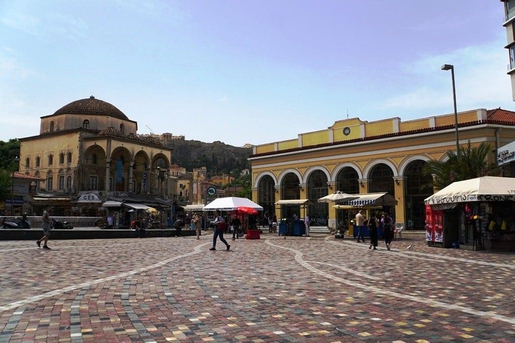 Monastiraki Square in Athens - Greece in 5 days