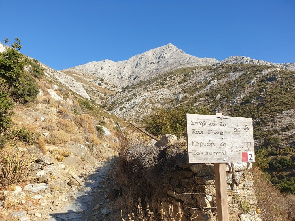 Hiking to mount Zas in Naxos Island - Hiking on the Greek Islands