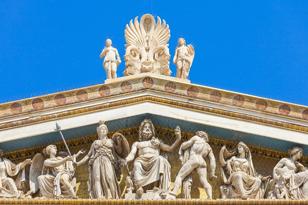 Olympian Gods from the Academy of AThens Greece is famous for the Olympian Gods