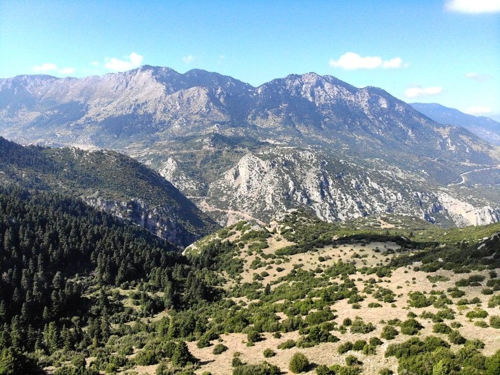 Mount Parnassus - highest mountains in Greece