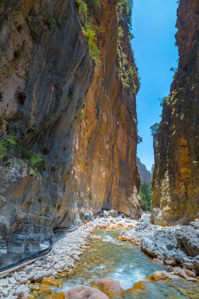Samaria Gorge  in Crete - Great Greek Island for hiking