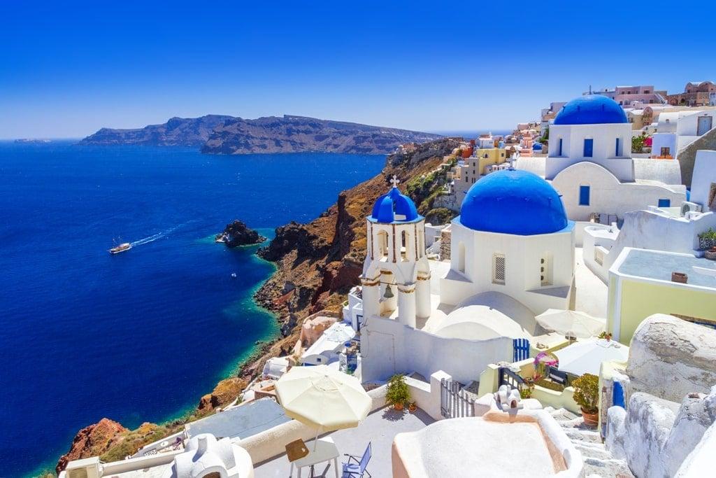 Famous Blue Domed Churches in Oia Santorini