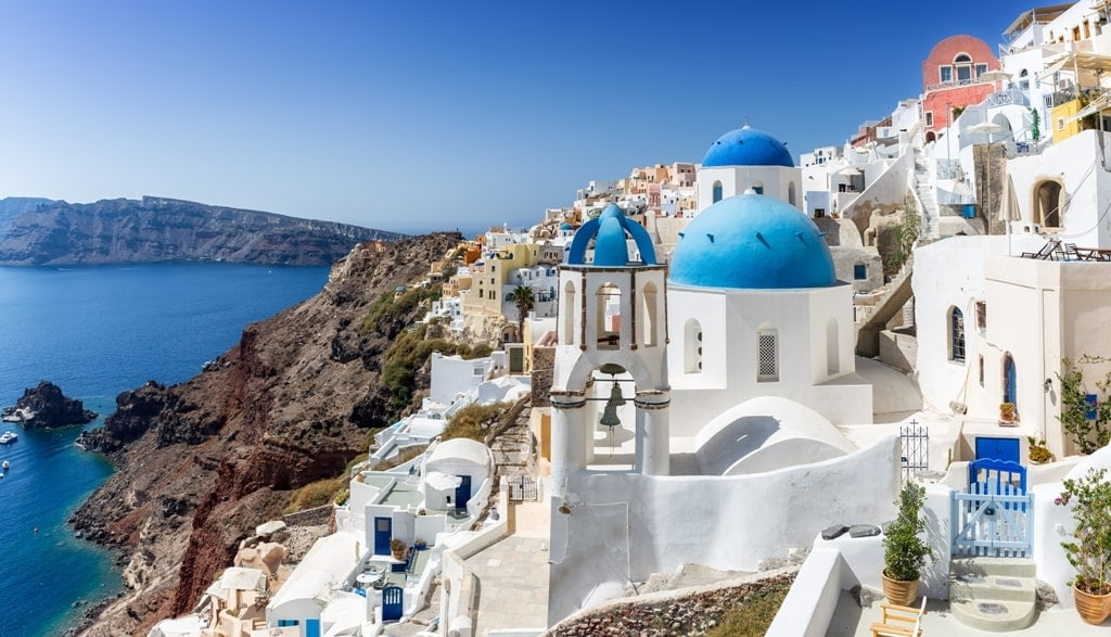 Oia in Santorini one of the most beautiful Greek Islands