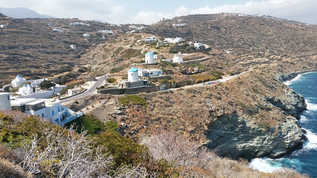 View over Kastro and the windmills in Sifnos - Hiking on the Greek Islands