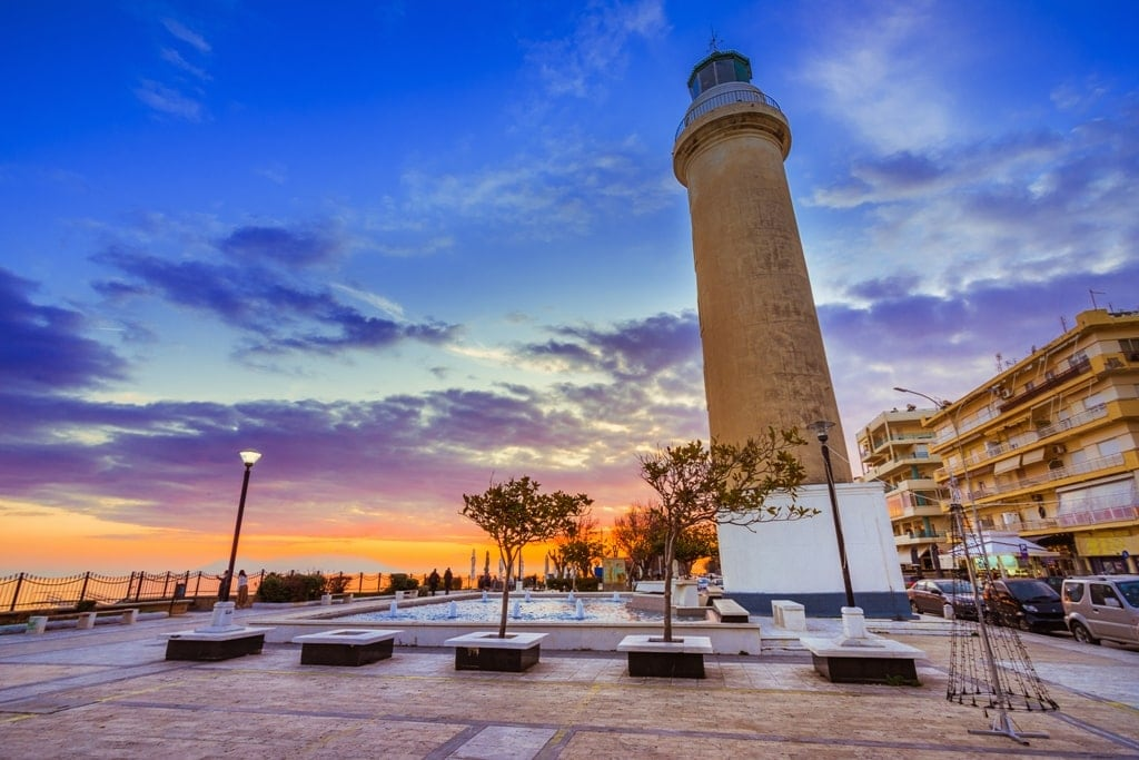 The lighthouse of Alexandroupolis symbol of the town, Greece