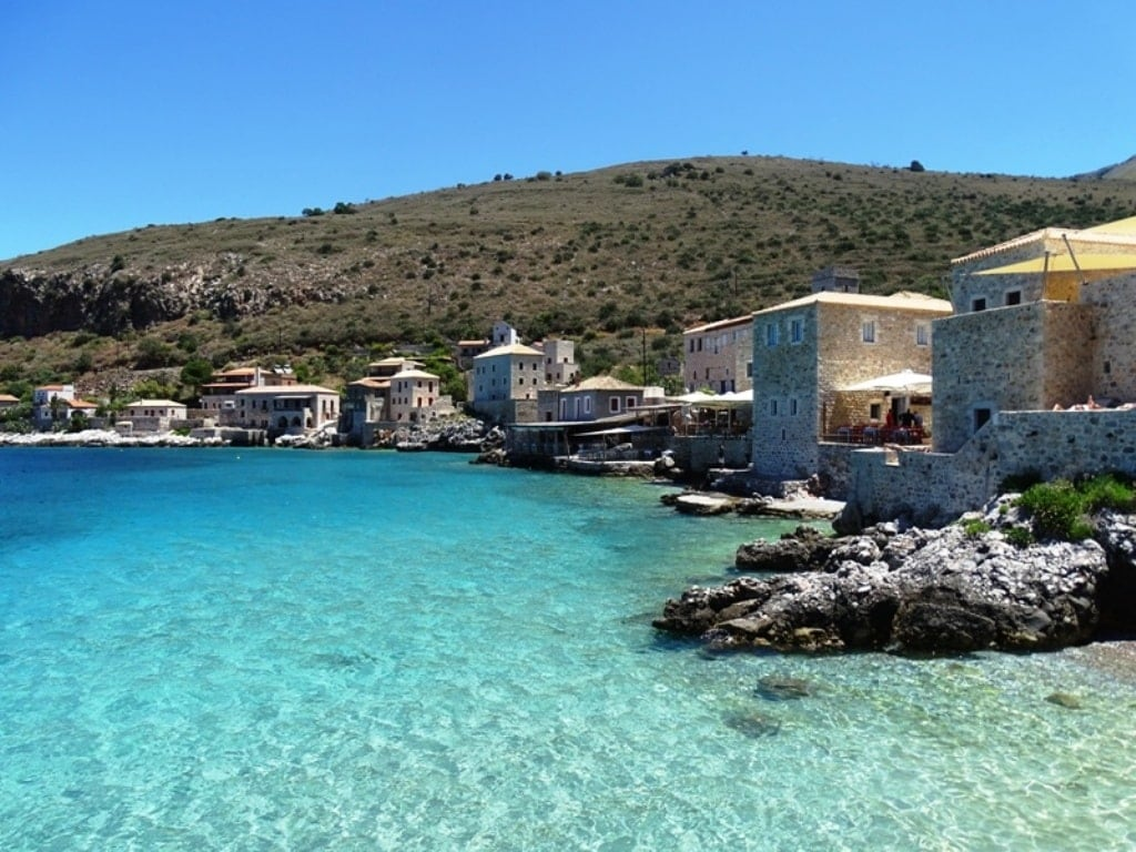 Village of Limeni in Mani in Mainland Greece