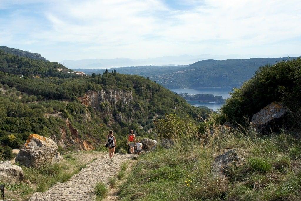 Hiking trail in Corfu island - Hiking on the Greek Islands