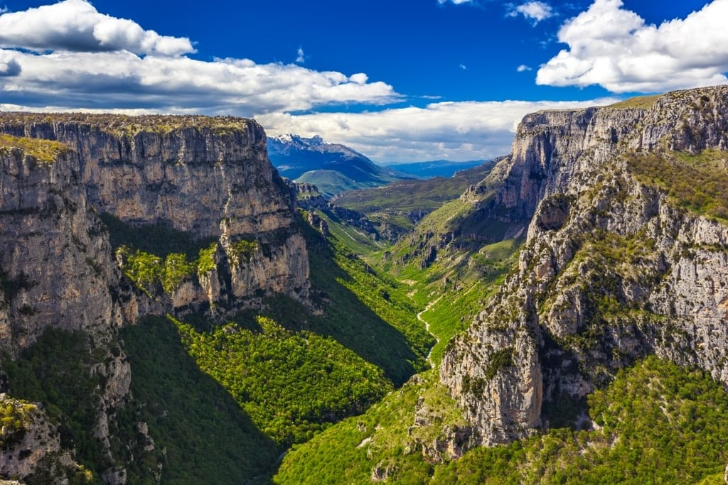 Vikos Gorge on Vikos Aoos National Park