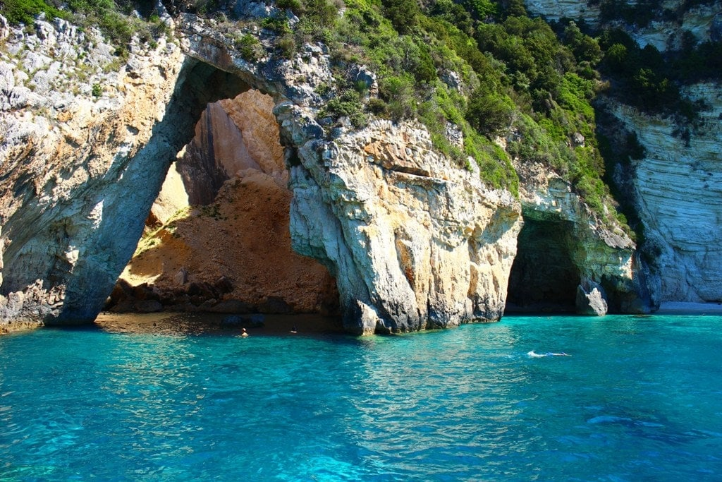 Blue Caves Paxos Greece