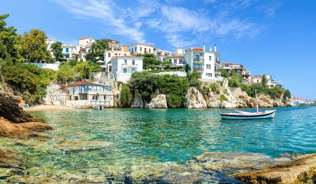 Skathos Island in Sporades Greece