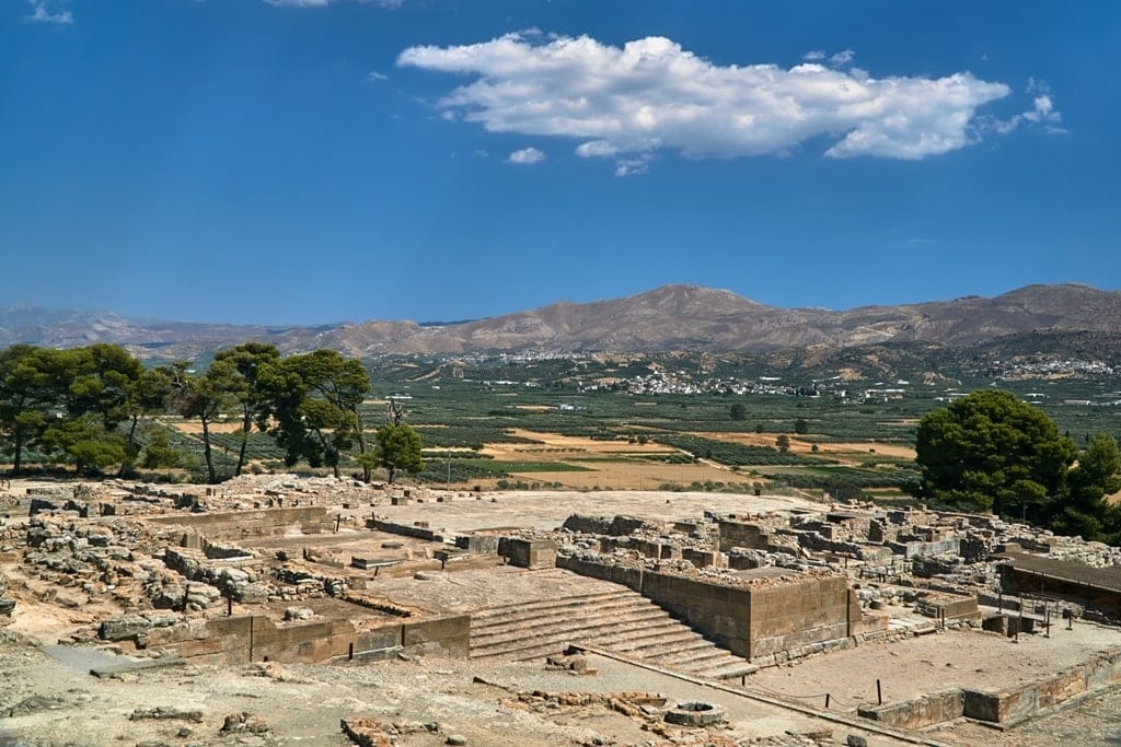 ancient city of Phaistos on the island of Crete