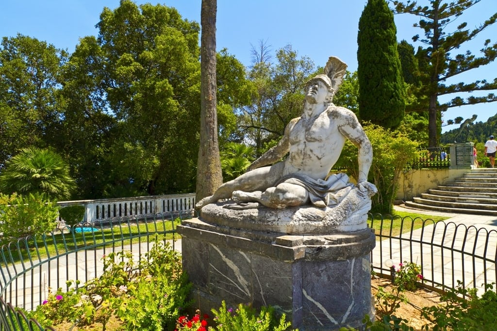 Sissy's Palace (Achillion) in Corfu - Corfu is a great place to visit in Greece in spring