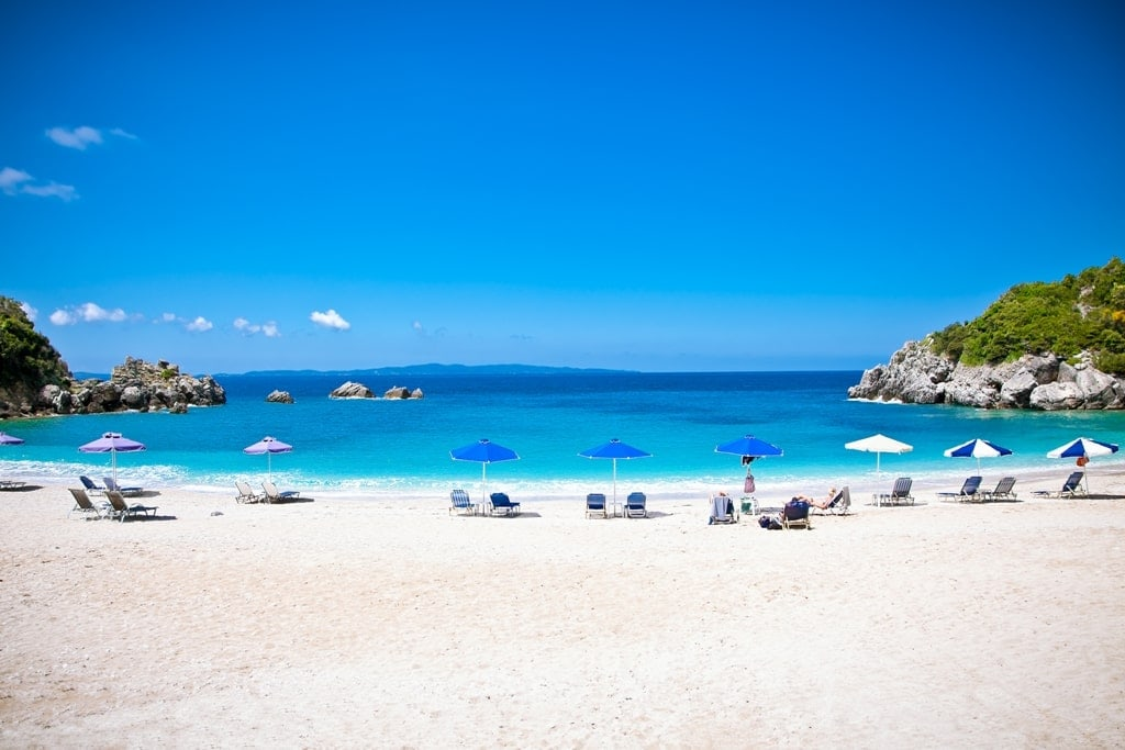 Sarakiniko Beach in Parga Greece