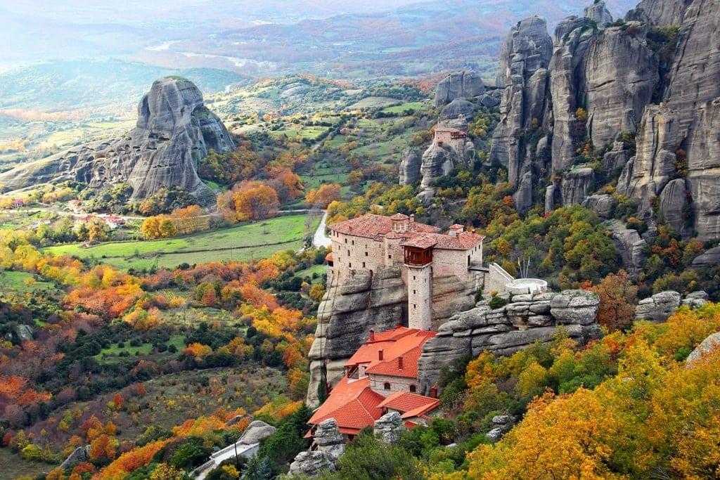 Meteora Monasteries in Autumn- Greece in Autumn