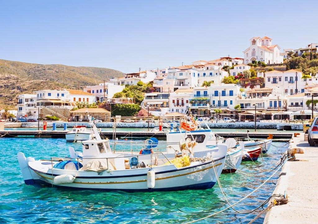 Batsi in Andros island cheap greek islands