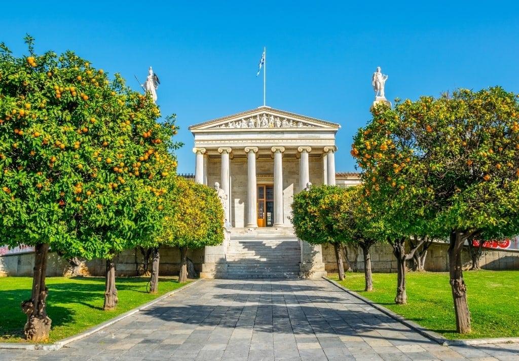 tangerine trees in Athens in Spring - seasons in Greece