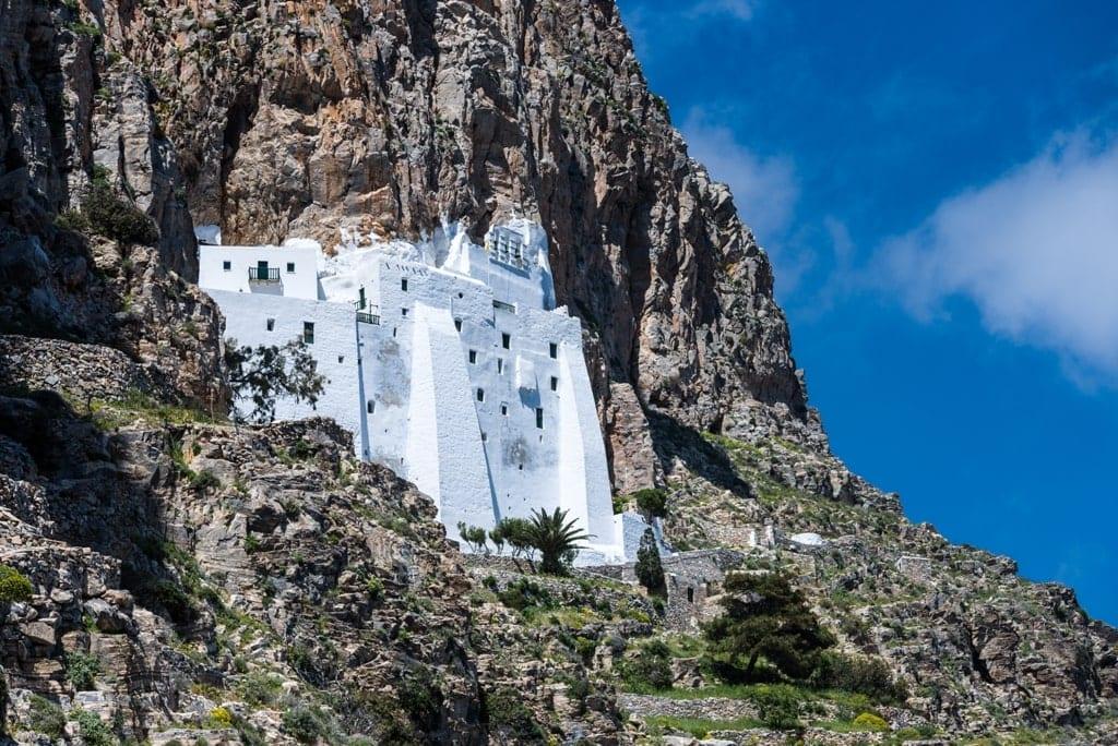 Chozoviotissa monastery, Amorgos island, Greece - beautiful Greek islands