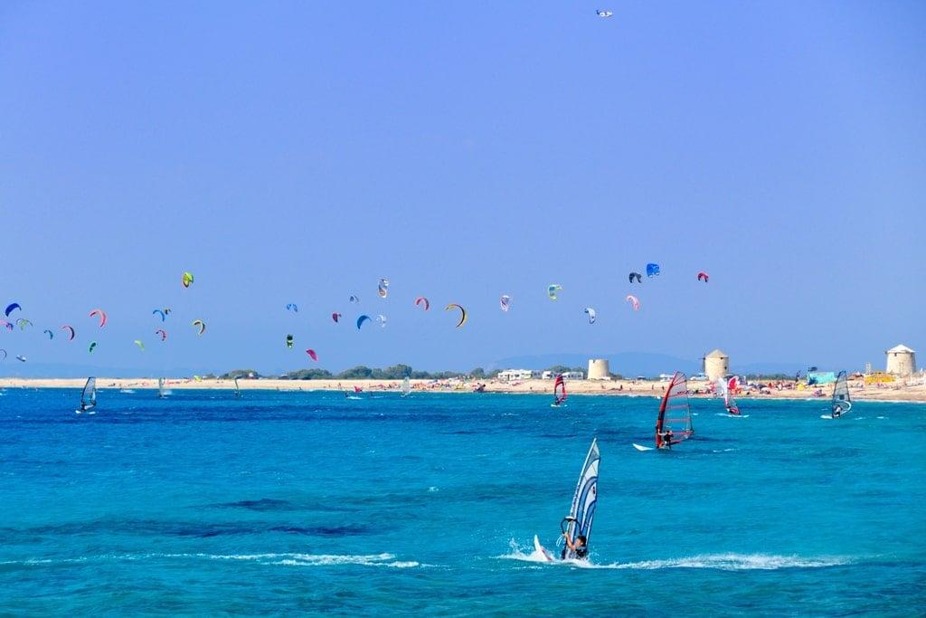 Kitesurfing and surfing in Lefkada