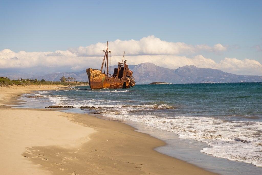 Shipwreck Dimitrios in Peloponnese Greece