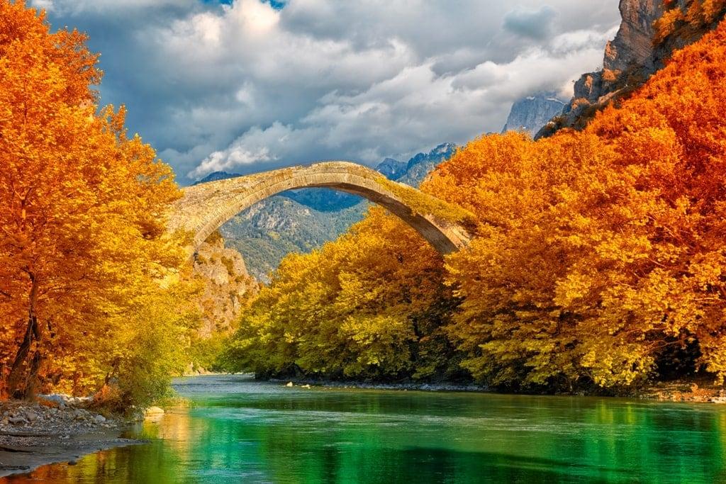 Konitsa Greece in Autumn