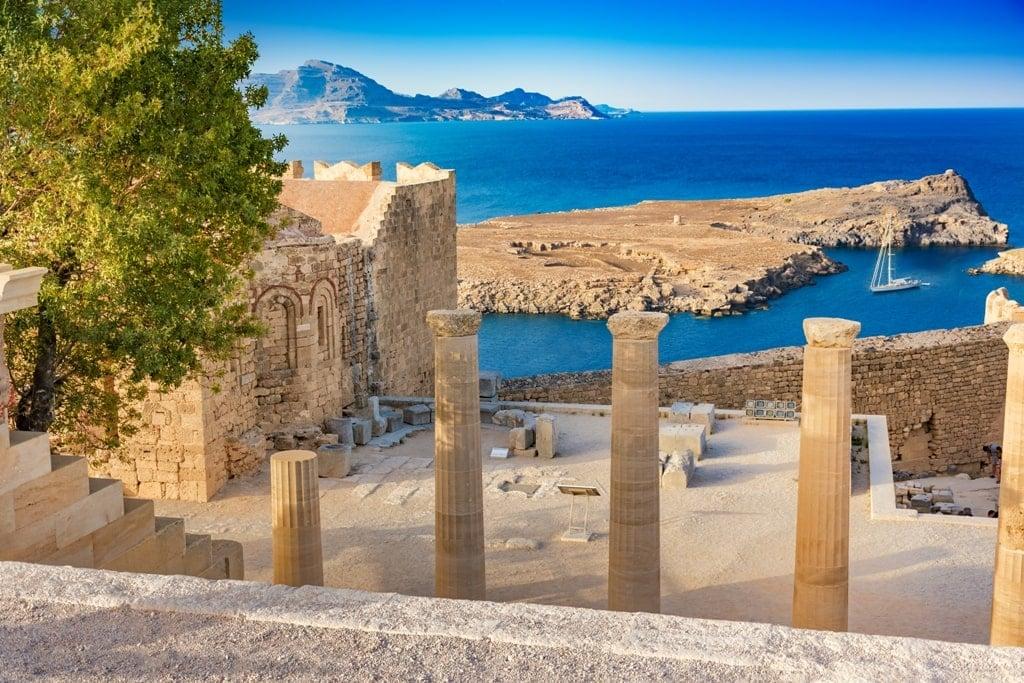 Lindos Acropolis in Rhodes - Greek islands to  visit in May