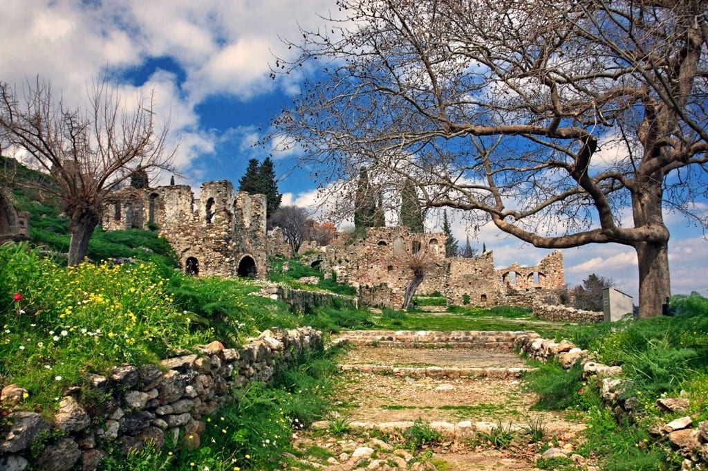 The Castletown of Mystras in spring - Greece in spring