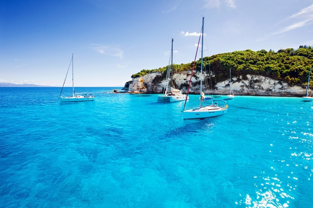 Paxos Island - Sailing on the Greek islands in the summer one of the best seasons to visit Greece