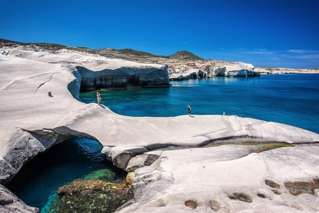 Sarakiniko in Milos - Most beautiful Greek Islands