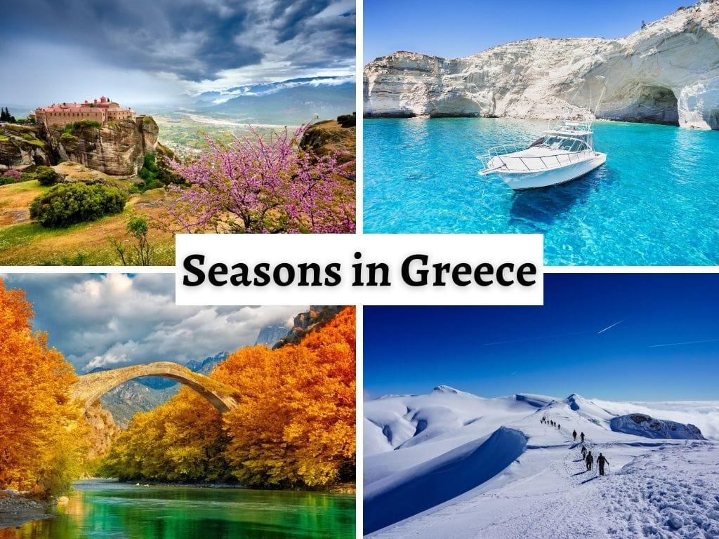 The 4 seasons in Greece