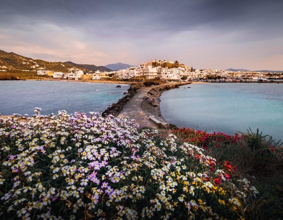 Naxos Town in Spring