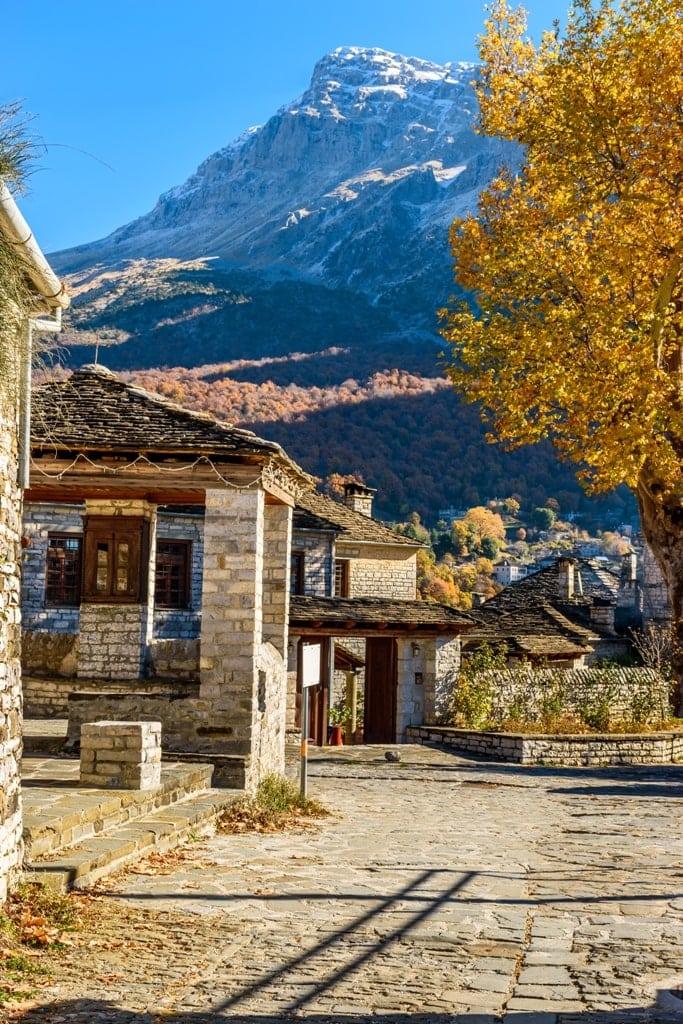 Papigo Village  - Greecein autumn