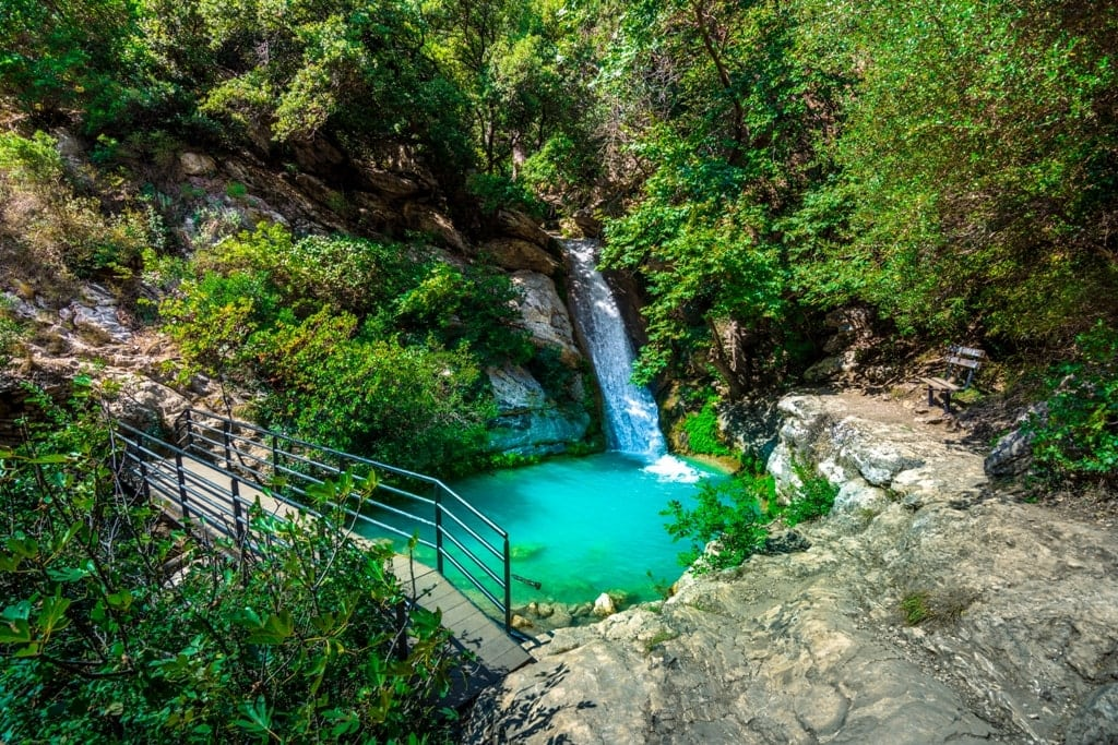 Neda Waterfalls in Peloponnese