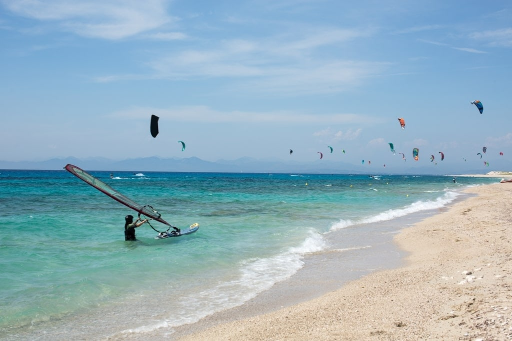 kitesurfing and surfing in Lefkada Greece