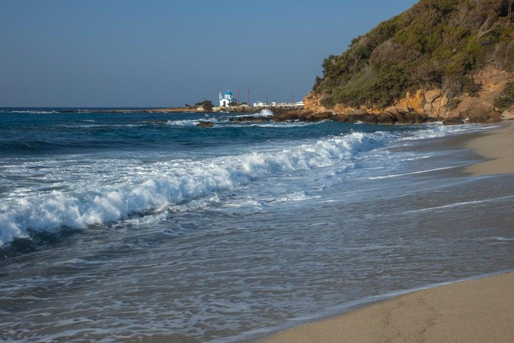 Messakti Beach is popular for surfing