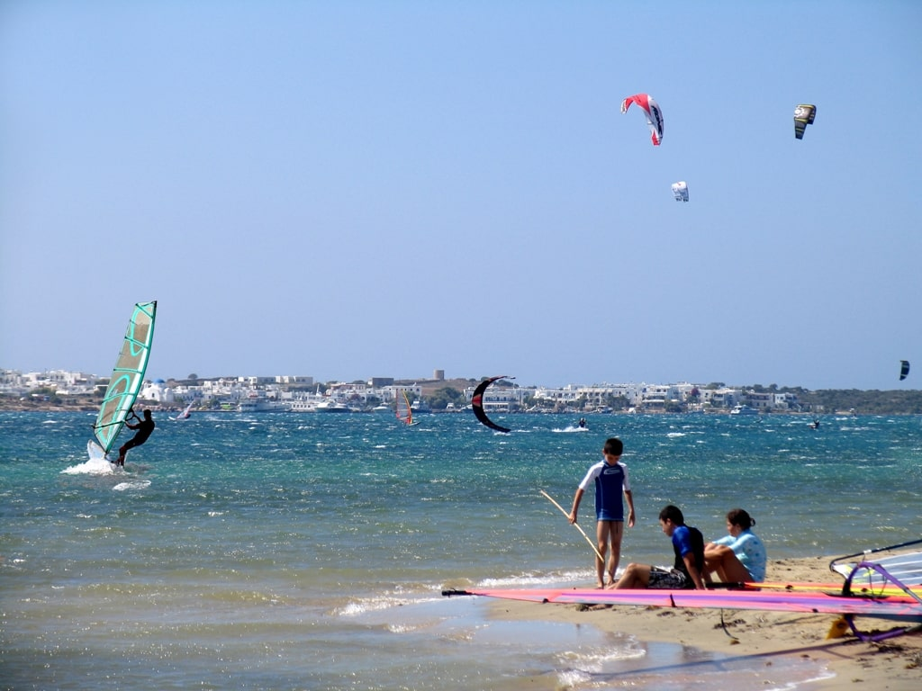 Kitesurfing and surfing in Paros Greece