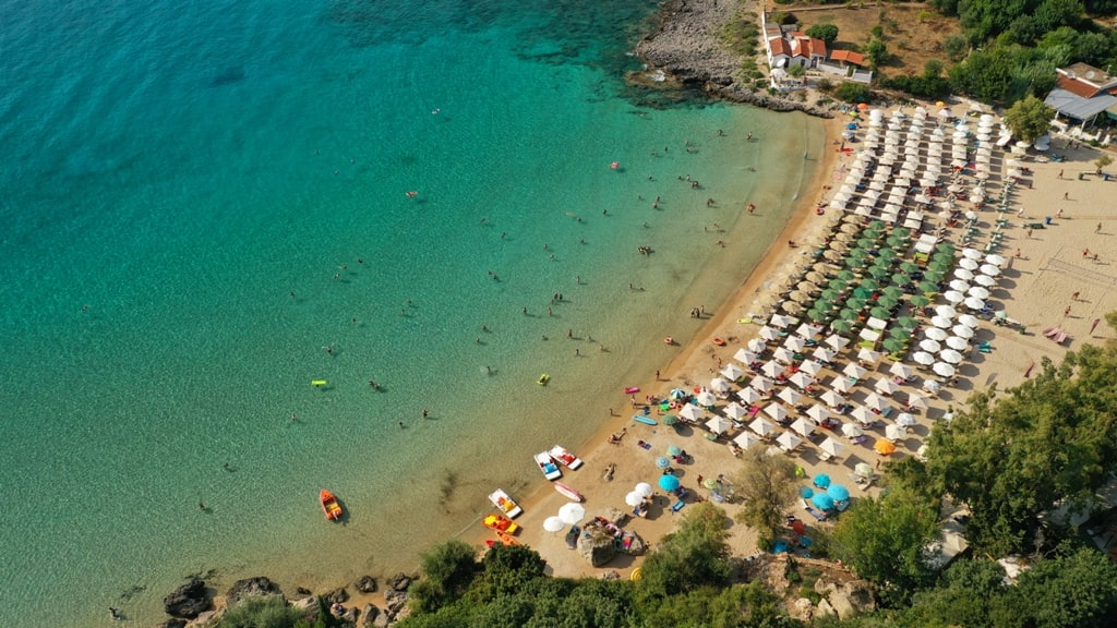 Kalogria Beach  - best beaches in Peloponnese