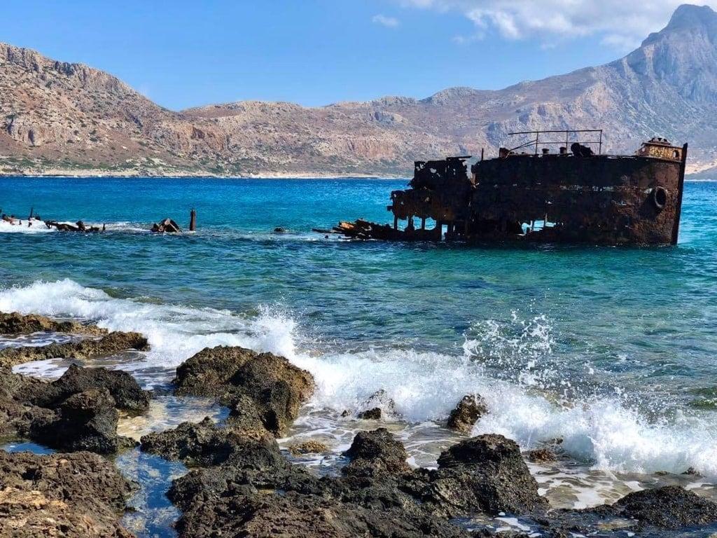 Shipwreck Gramvousa Crete Greece